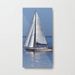Sailing up the River Metal Print