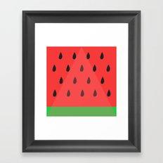 Watermelon Slice Framed Art Print