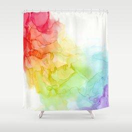 Study in Rainbow Shower Curtain