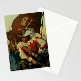 """""""Stand and Deliver"""" Pirate Art by NC Wyeth Stationery Cards"""
