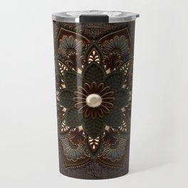Steampunk, beautiful mandala Travel Mug