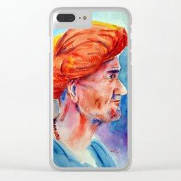 Turban man Clear iPhone Case