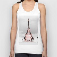 blankets Tank Tops featuring pariS Black & White + Pink by 2sweet4words Designs