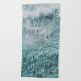 lets surf xx Beach Towel