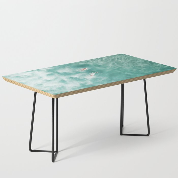 Surfing in the Ocean Coffee Table