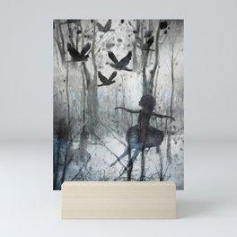 winter woods Mini Art Print
