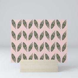 Tropical foliage Pink #tropical #leaves #homedecor Mini Art Print