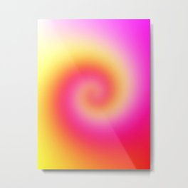 Spiral Of Color Metal Print