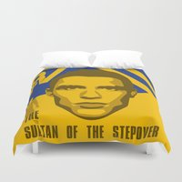 ronaldo Duvet Covers featuring Christiano Ronaldo - The Sultan of the Stepover by Marc Dahl