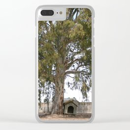 Lonely dog house Clear iPhone Case