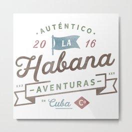 Vintage Havana Cuba Logo Metal Print