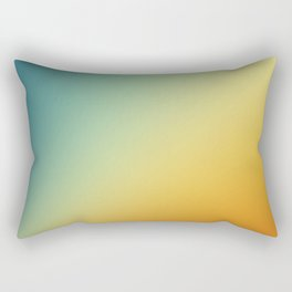 Gradient Colours: Orange Blue Rectangular Pillow