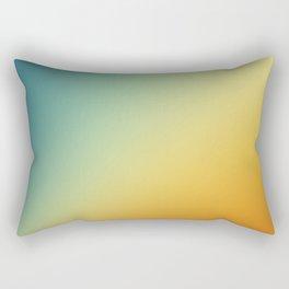 Gradient Colours: Orange Blue Rectangular Pillow