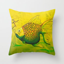 Bruce - GONZA Fish Throw Pillow