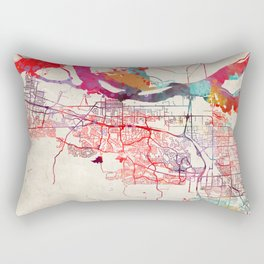 Antioch map California painting square Rectangular Pillow