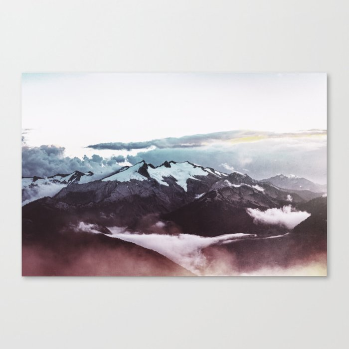 Faded mountain Canvas Print