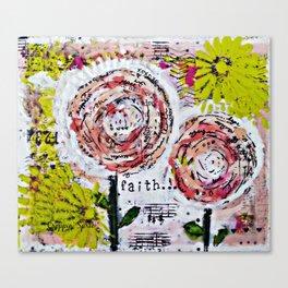 Mixed Media Art: Faith Canvas Print