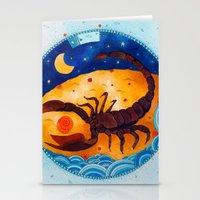 scorpio Stationery Cards featuring Scorpio by Sandra Nascimento