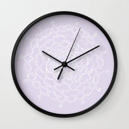 Lavender Chrysanthemum Wall Clock