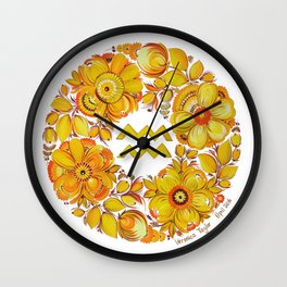 Aquarius in Petrykivka style Wall Clock