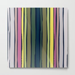 Midsommar Dancing Stripes Pattern Metal Print