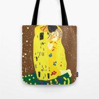 klimt Tote Bags featuring klimt by John Sailor