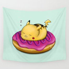 Pika! Donut Sleep There! Wall Tapestry