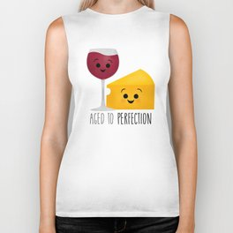 Aged To Perfection - Wine & Cheese Biker Tank