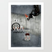 glados Art Prints featuring Glados' Birthday by Melissa Smith