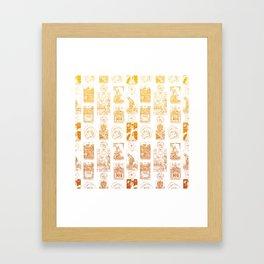 Beautiful Golden Tarot Card Print Framed Art Print