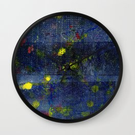 pattern | fireflies Wall Clock