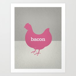 Bacon/Eggs Art Print