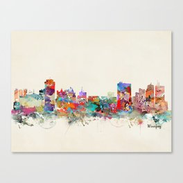 winnipeg canada skyline Canvas Print