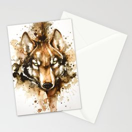 """Into the mirror"" n°1 The wolf Stationery Cards"