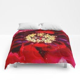 Red Peony Comforters