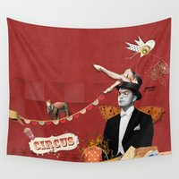 circus Wall Tapestries featuring Circus by Poua stories