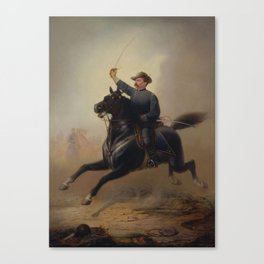 General Philip Sheridan's Ride Painting Canvas Print