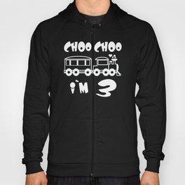 Choo Choo I'm 3 Children's Birthday Train Hoody