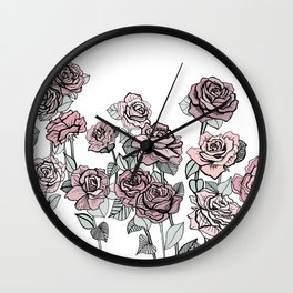 Vintage Rose Wall Clock