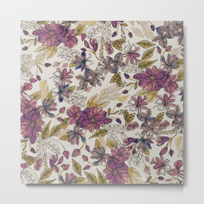 Dreaming Florals Metal Print