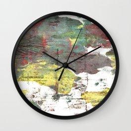 Wenge abstract watercolor Wall Clock