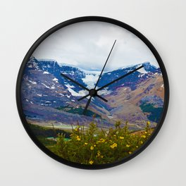 Athabasca Glacier in Jasper National Park, Canada Wall Clock