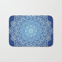 Mandala dark blue Bath Mat