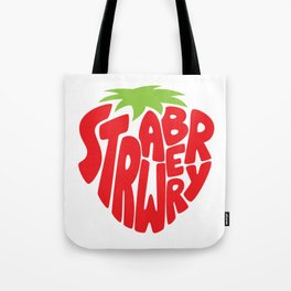 Typo' Strawberry Tote Bag