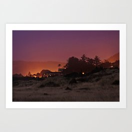 Gold Beach At Night Art Print