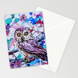 Little Owls version 3 Stationery Cards