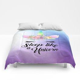 Sleep Like A Unicorn Comforters