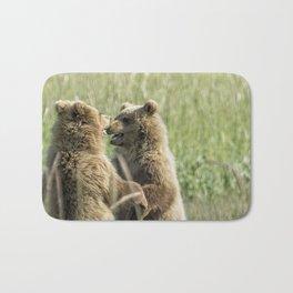 Brown Bear Cubs - Face Off Bath Mat