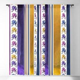 Iris Rainbow Stripes Blackout Curtain