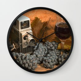 Bell and Howell with Black Grapes Wall Clock